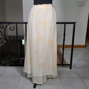 Band of Outsiders Floral Chiffon Wrap Maxi Skirt